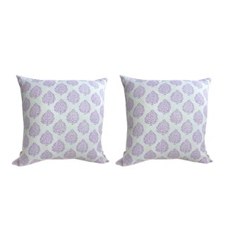 John Robshaw Fabric Mali in Lavender Pillows - a Pair