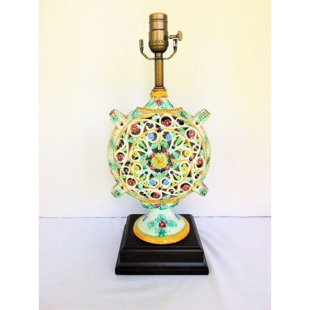 Italian Pottery Vase Lamp - Image 2 of 4