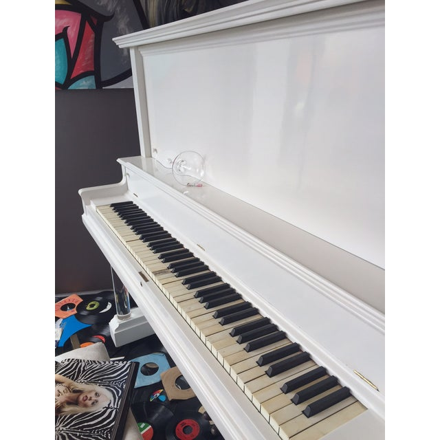 Vintage Lacquered White Piano - Image 5 of 10