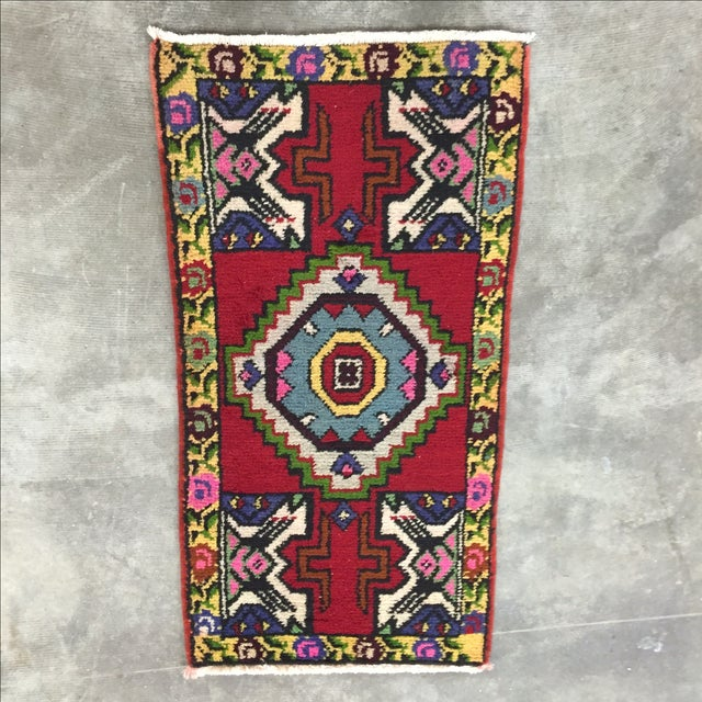 "Antique Anatolian Turkish Rug - 1'6"" X 3' - Image 2 of 7"