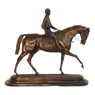 """""""Archer"""" Bronze Statue by Pierre Tourgeneff"""