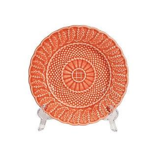 Orange Textured Ceramic Plate