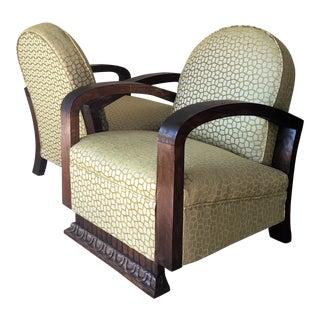 Mid-Century Armchairs Art Deco Period - Pair