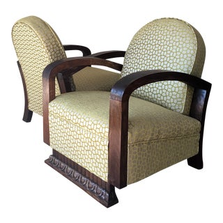 Mid-Century Armchairs Art Deco Period - Pair