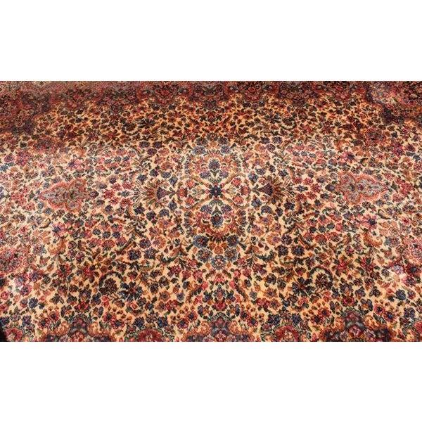 """Antique Karastan Kirman Wool Rug - 5′8″ x 9′7"""" - Image 3 of 5"""