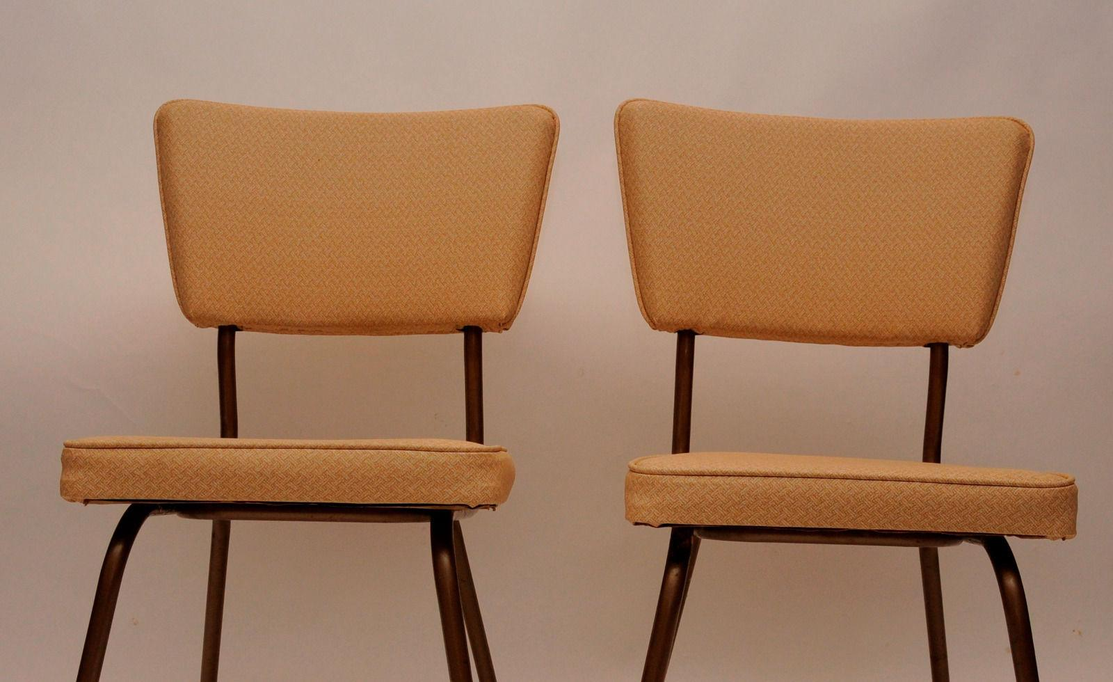 Defco Of Detroit Mid Century Modern Vintage Dining Chairs   Pair   Image 5  Of