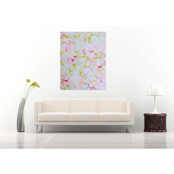 """Abstract Painting """"Lemon Seashell"""" by Susie Kate - Image 3 of 4"""