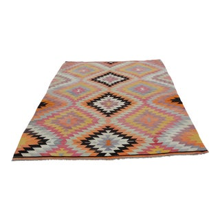 Vintage Turkish Kilim Rug - 6′3″ × 8′6″