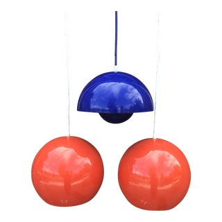 Vintage Verner Panton Pendant Lamp Lights - Set of 3