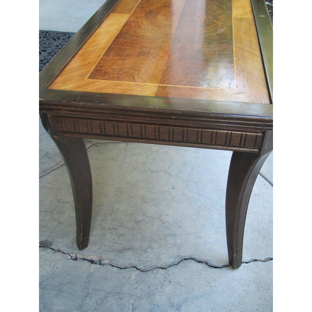 Image of 1930's Inlaid Wood Cocktail Table