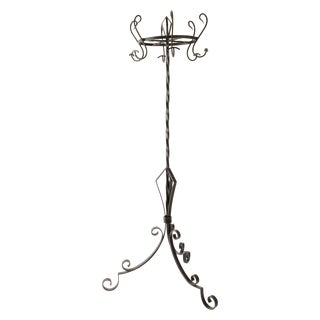 French Industrial Style Iron Hat and Coat Stand