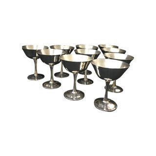 Vintage Silverplate Champagne Glasses - Set of 10