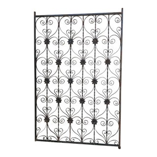 Antique Wrought Iron Decorative Wall Divider