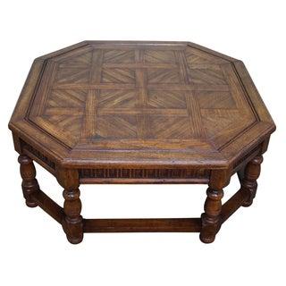Thomasville Oak Parquet-Top Coffee Table