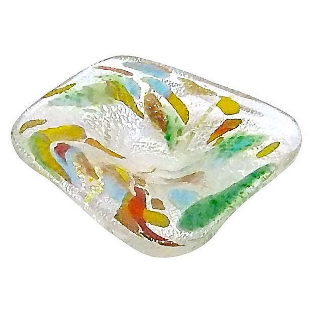 Image of Mid-Century Modern Irridescent Colored Glass Dish