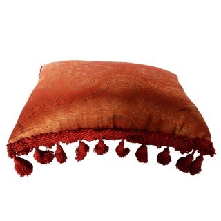 Lumbar Silk Paisely Pillow