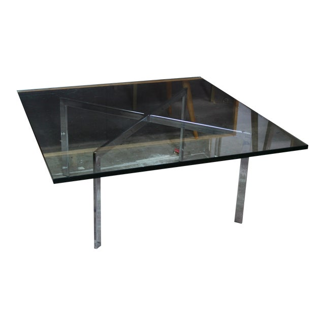 Mid century modern knoll barcelona coffee table chairish - Barcelona table knoll ...