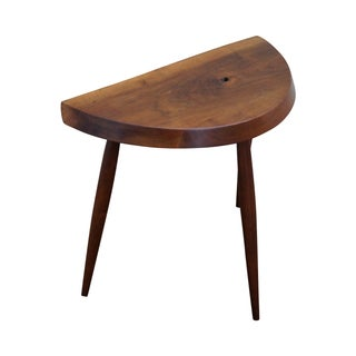 At Elfman Studio Made Walnut Free Form Stool