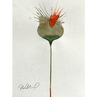 Volcano Botanical Watercolor Painting