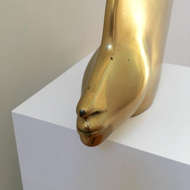 Polished Brass Abstract Egyptian Sculpture - Image 4 of 6