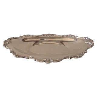 Wallace Silver Plate Open Bread, Serving Tray