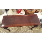 Image of Cherry Wood Console Table