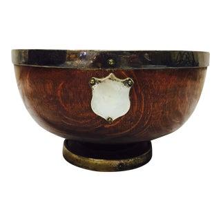 Antique English Oak Mont. Bowl
