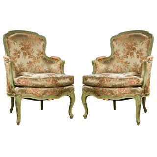 French Louis XVI-Style Bergères - A Pair