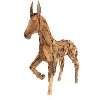 Reclaimed Wood Folk Art Horse Sculpture