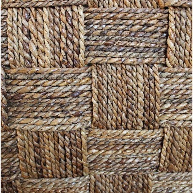 Seagrass Rope Arm Chair W Brown Cushion Chairish
