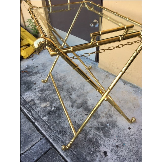 Contemporary Brass Bar Table - Image 5 of 8