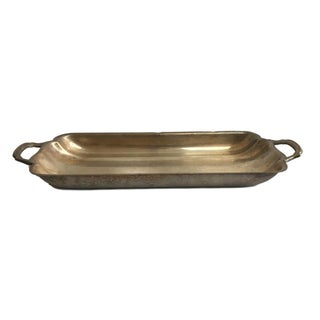 Small Silver Tray with Handles