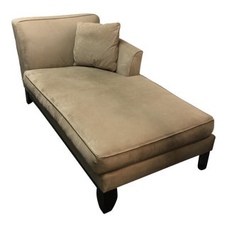 Pottery Barn Tan Suede Chaise