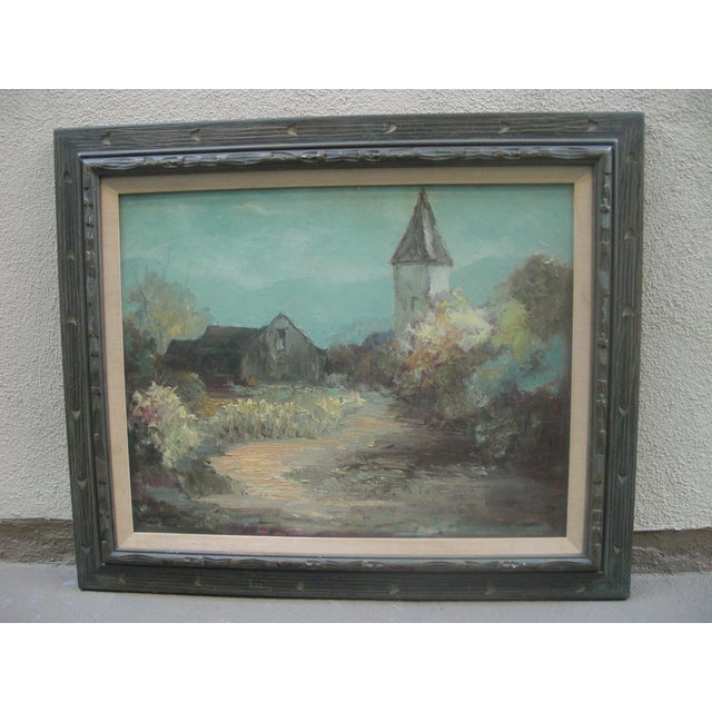 Image of Landcape Painting of Rustic Village