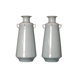 Chinese Celadon Vases - A Pair
