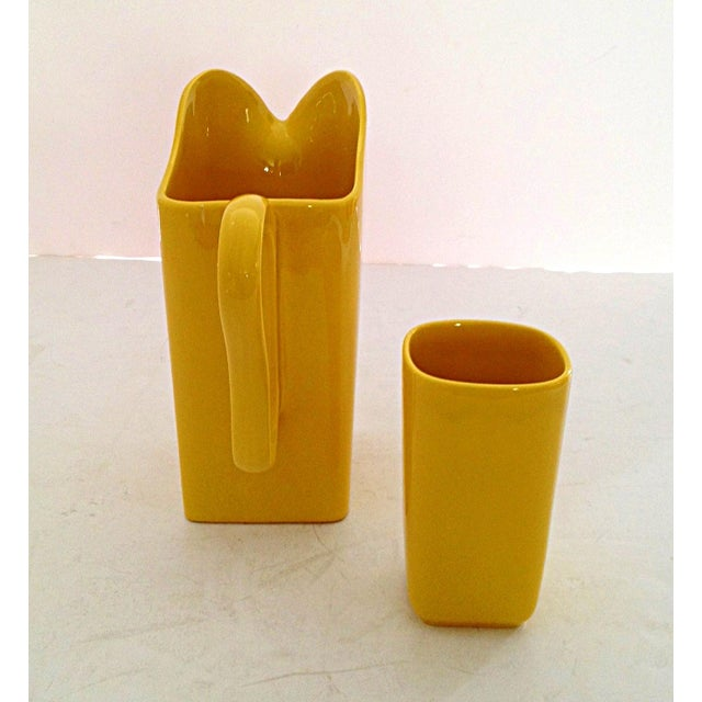 Franciscan Yellow Pitcher and Cup Set - Image 6 of 9