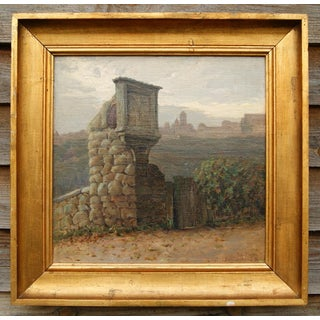 1922 Rothenburg Painting by Harald Erhard-Hansen