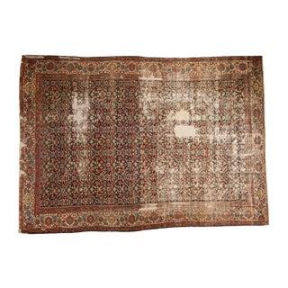 """Antique Distressed Mahal Carpet - 9'2"""" x 12'8"""""""