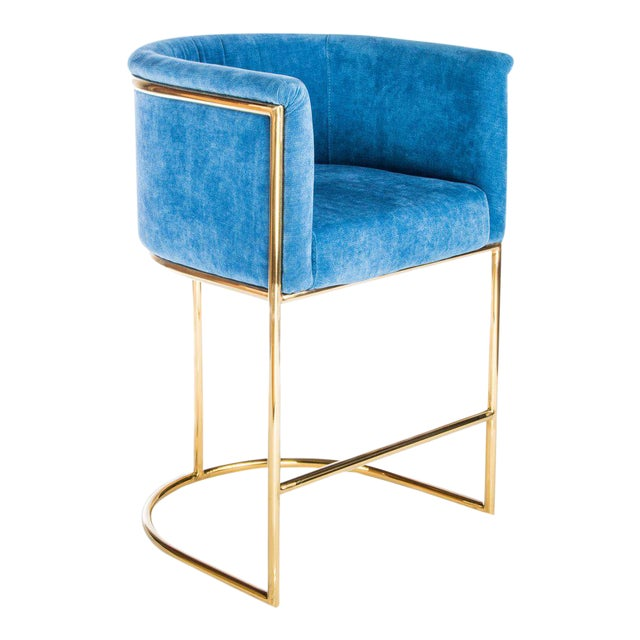 Mira Gold Counter Chair - Image 1 of 3