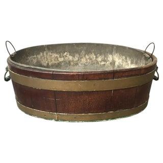 18th Century Georgian Brass Bound Wine Cooler