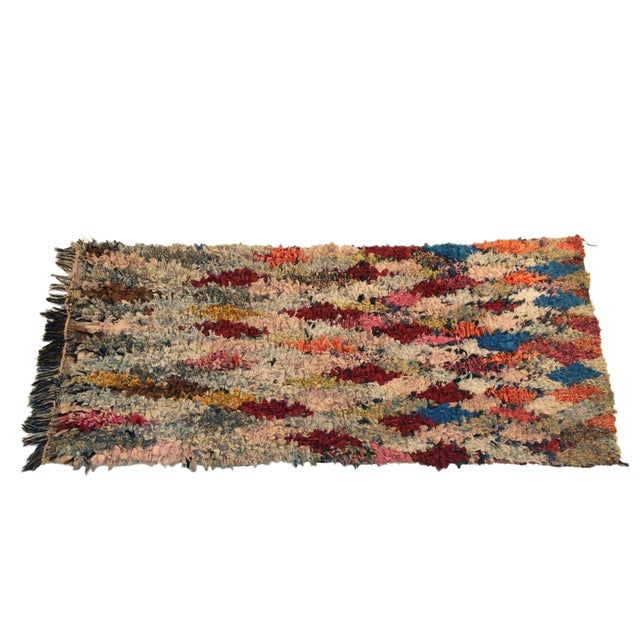 "Vintage Boucherouite Carpet - 5'10"" X 2'10"" - Image 1 of 3"