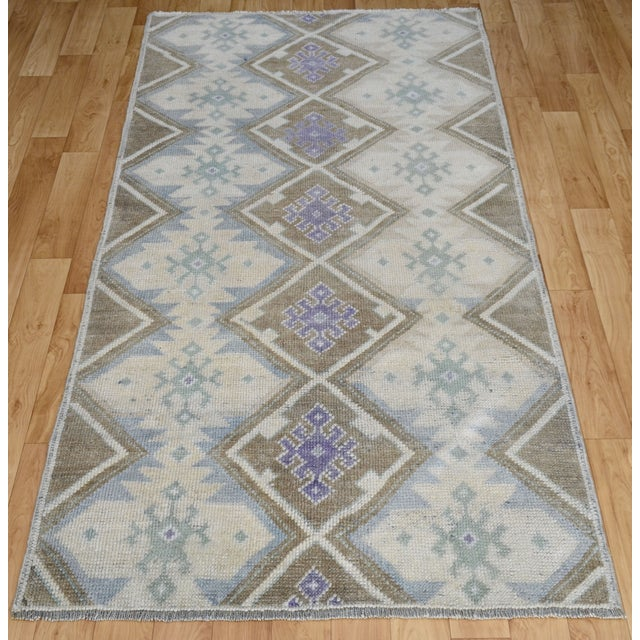 Hand-Knotted Antiqued Turkish Rug - 3′1″ × 5′7″ - Image 3 of 9
