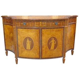 Schmieg & Kotzian Inlaid Demilune Commode