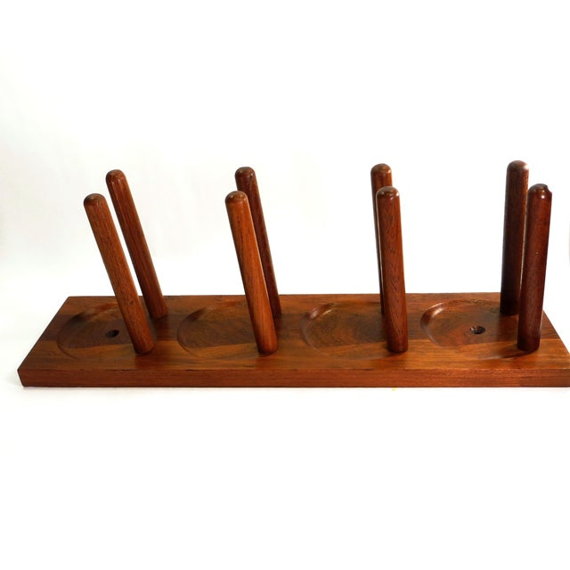 Mid Century Modern Teak Wood Wine Racks A Pair Chairish