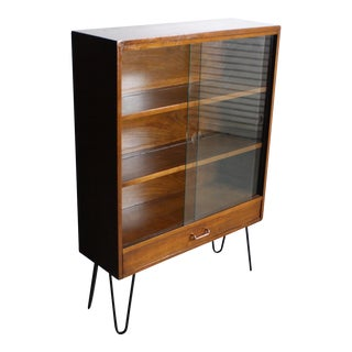 Mid-Century Glass Front Display Cabinet