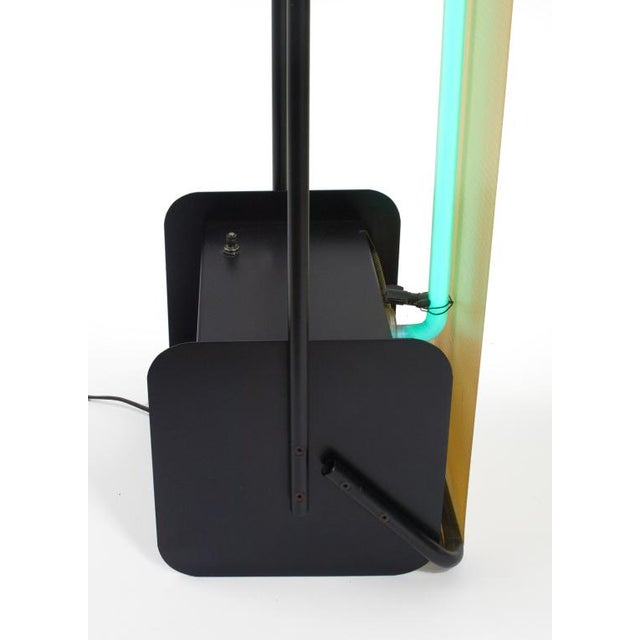 Image of Post Modern Neon Light Sculpture Torchiere after Rudi Stern