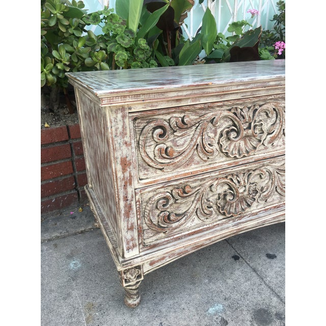 French Style Distressed Cabinet - Image 4 of 11