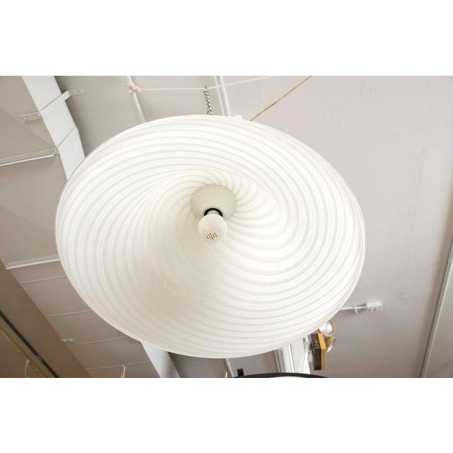 Murano Swirl Glass Dome Pendant Light - Image 6 of 9