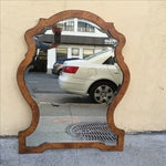 Image of Wooden Queen Ann Style Mirror