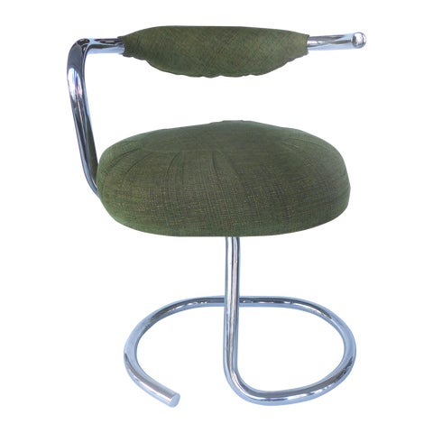 Image of Arrben Tubular Chrome Dining Chairs - Set of 6